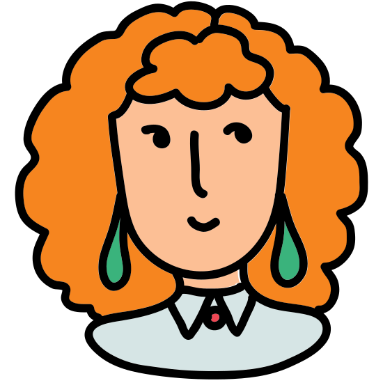 User Female Red Hair icon