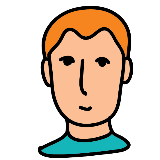 User Male icon. This particular icon looks like an oval shape. It has two lines inside towards the top that looks like a hair line. It also has two dots on opposite sides of the oval shape that look like eyes.