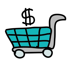 doodle shopping-cart icon