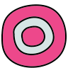 Circled 0 icon