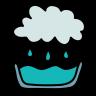 rainwater catchment icon
