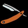 straight razor icon