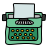 typewriter with-paper icon