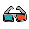 3d glasses icon
