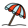 beach umbrella icon