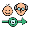 Age timeline icon