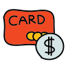 Carte bancaire Dollar icon