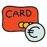 Carta bancaria Euro icon