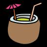 coconut cocktail icon