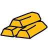 Goldbarren icon