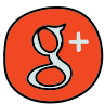 Google Plus entouré icon
