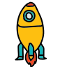 Rocket lancée icon