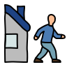 Leave House icon