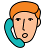 Man On Phone icon