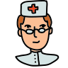nurse female icon
