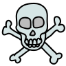 Danger Sign With Skull icon