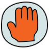 Hand Caution icon