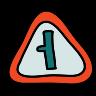 Estrada, esquerda curva, sinal icon