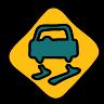 Rutschige Straße icon