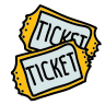 Deux tickets icon