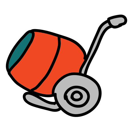 Red Cement Mixer icon