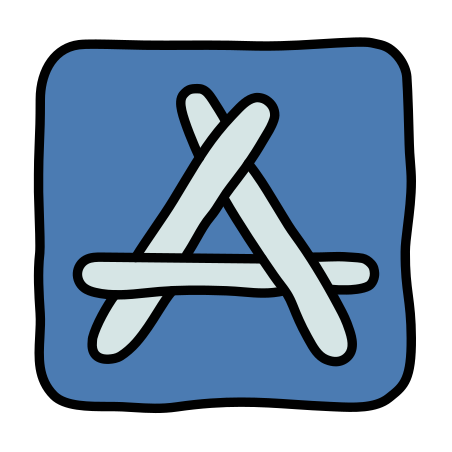 App Store icon in Doodle