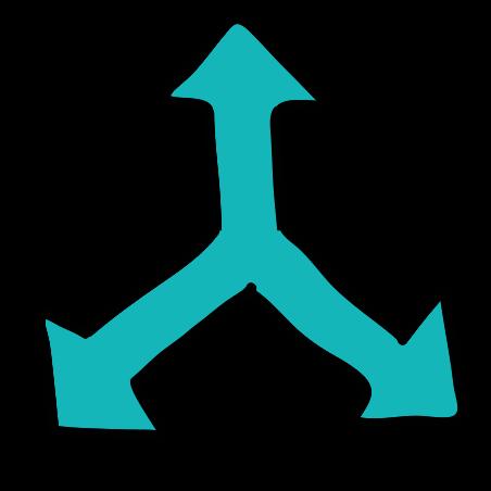 Arrow Up Left Right icon
