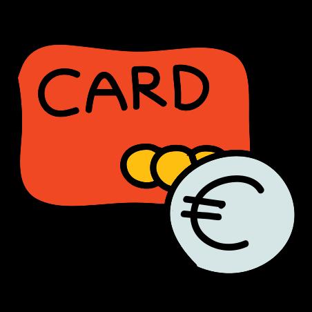 Bank Card Euro icon