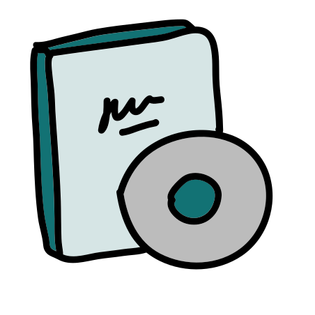 CD icon in Doodle