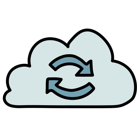 Cloud Sync icon in Doodle