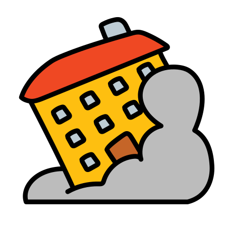 Collapse Building icon