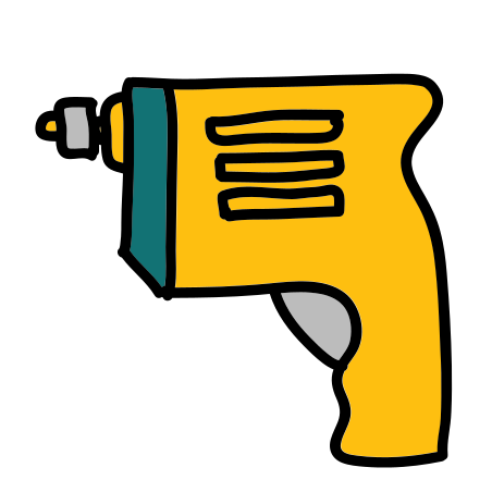 Drill icon in Doodle