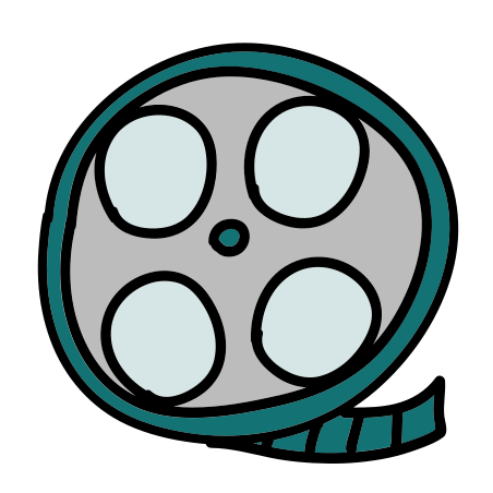 Film Reel icon in Doodle