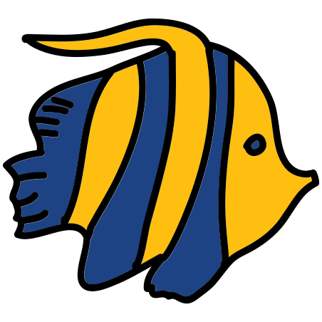 Flounder Fish icon in Doodle