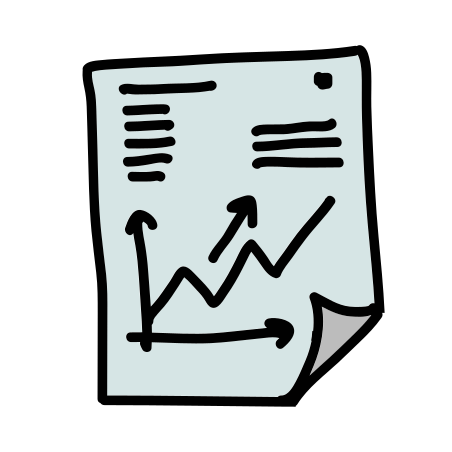 Graph Report icon in Doodle