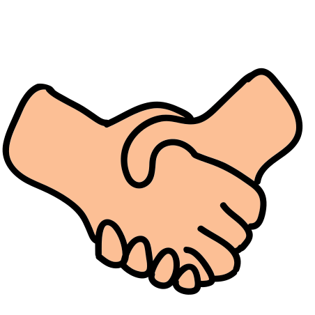 Handshake icon in Doodle