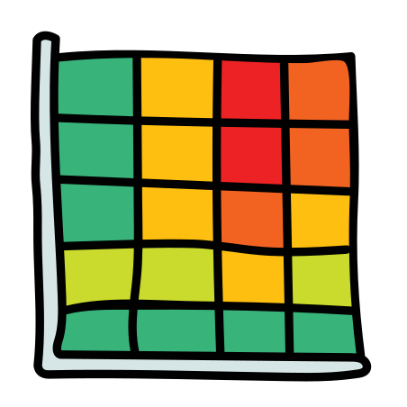 Heat Map icon in Doodle