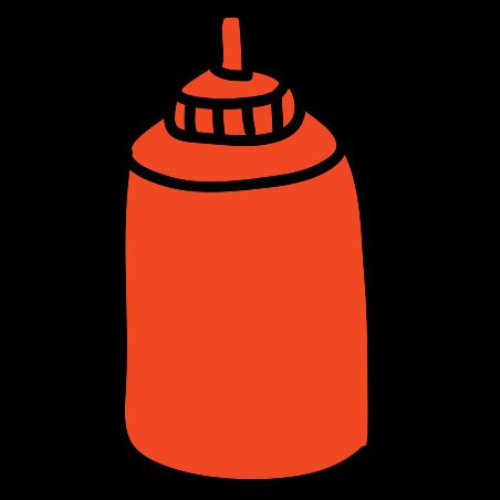 케첩 icon in Doodle