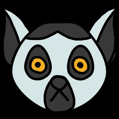 Lemur icon in Doodle