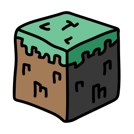 Minecraft Grass Cube icon in Doodle