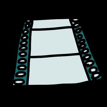 새로운 영화 필름 스트립 icon in Doodle