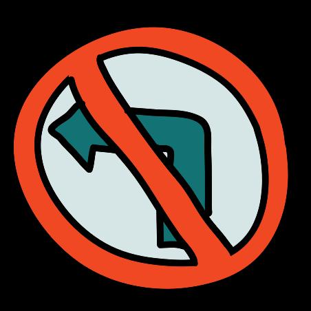아니 차례 도로 표지판 icon
