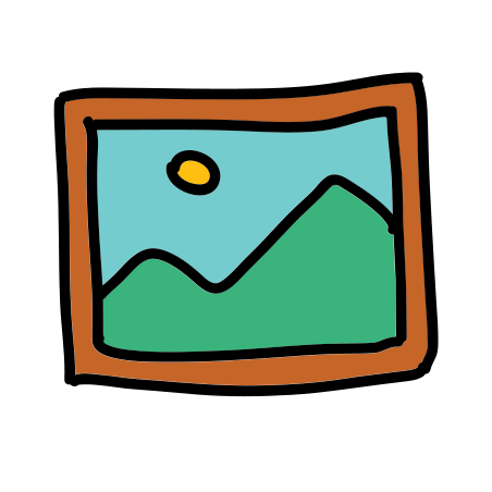 Picture icon in Doodle
