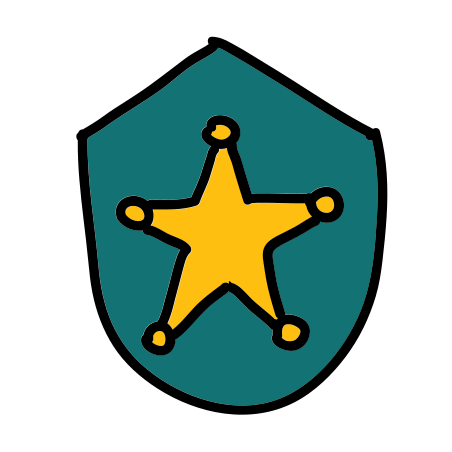 경찰 배지 icon