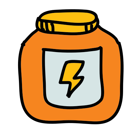 Protein Supplement icon in Doodle