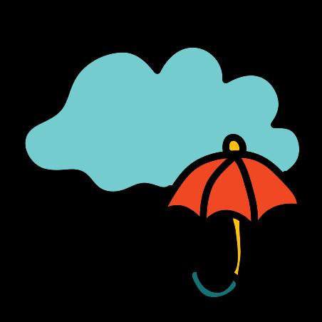 비 icon in Doodle