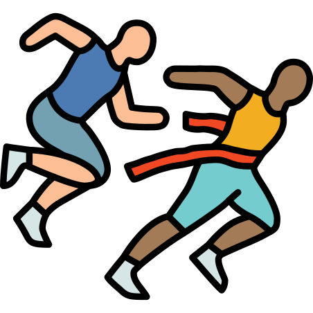 Ranners Crossing Finish Line icon