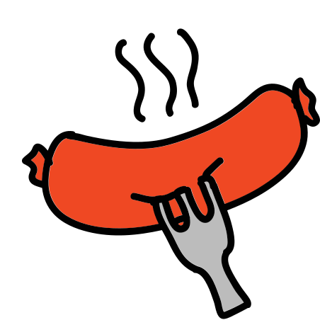 Sausage icon in Doodle