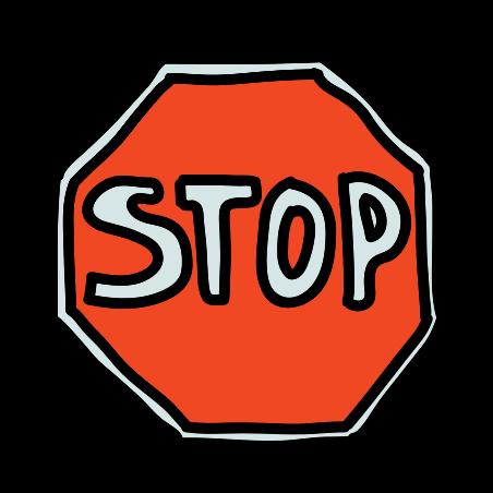 Panneau stop icon