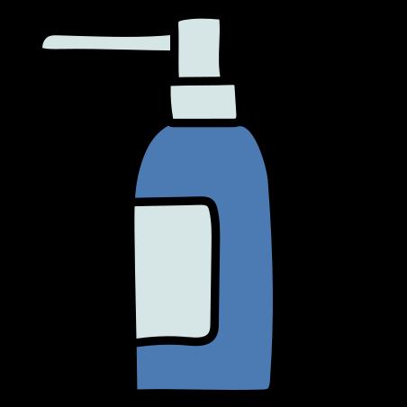 목구멍 스프레이 icon in Doodle